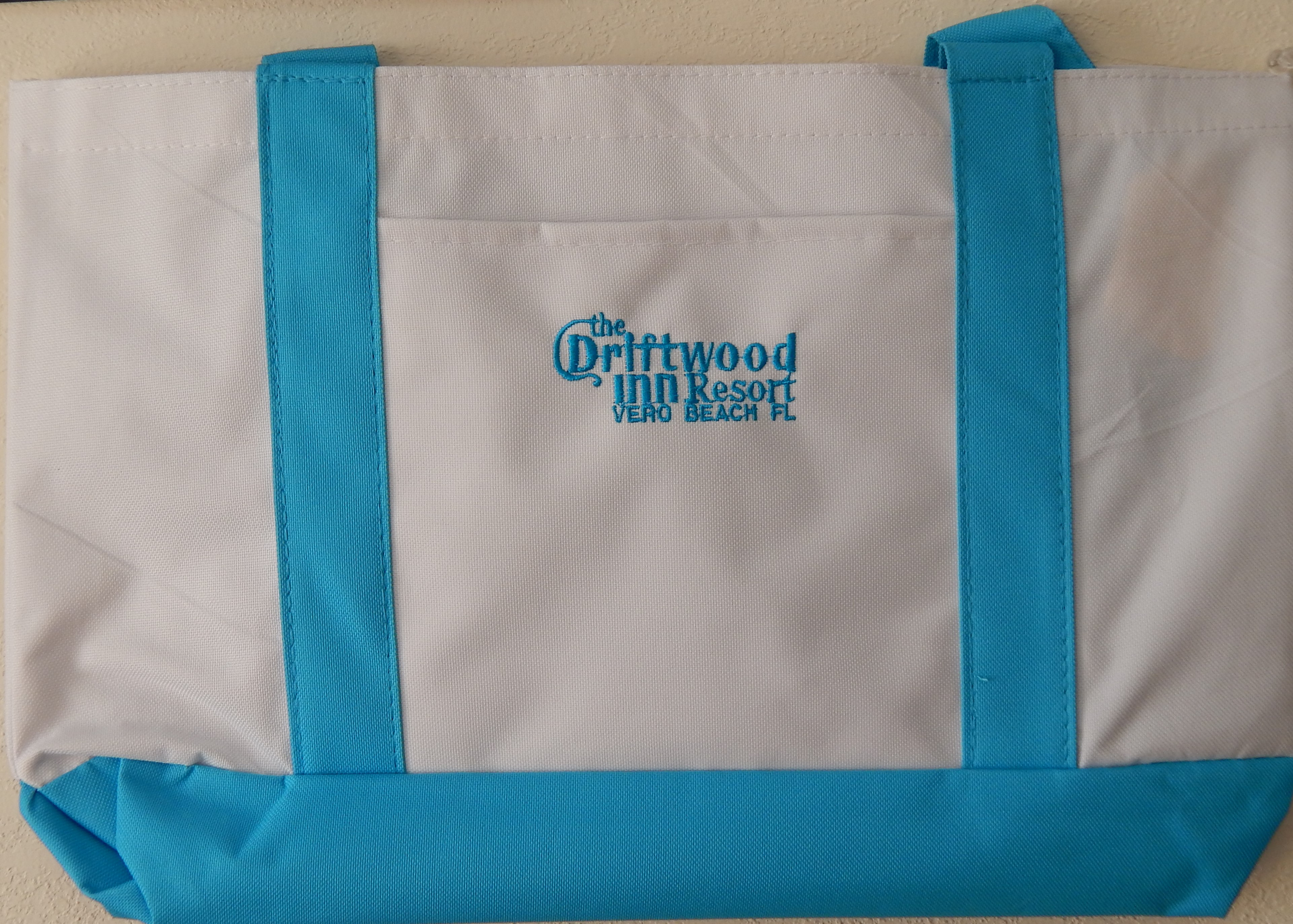 Driftwood Embroidered Beach Tote