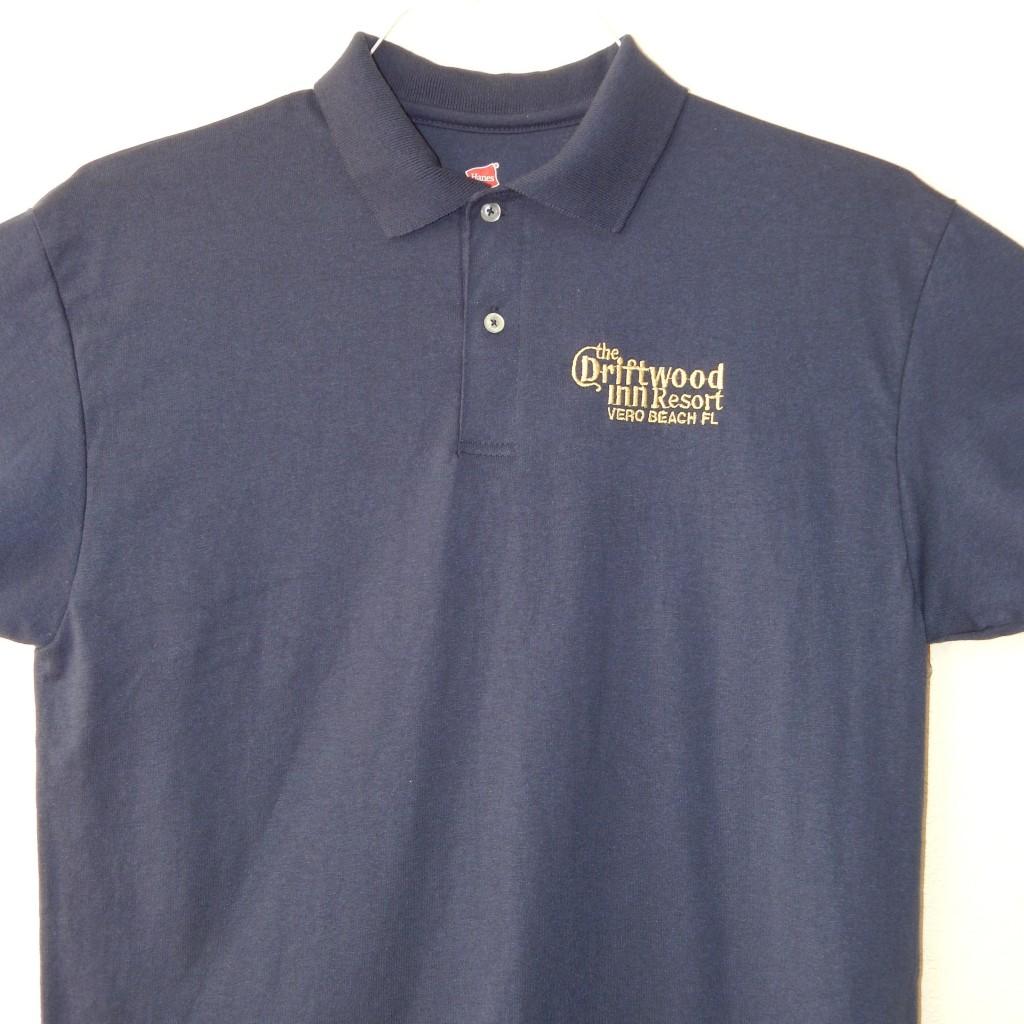 Driftwood Embroidered Polo Shirt Treasure Coast Embroidery